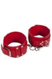 Оковы Leather Dominant Leg Cuffs, red