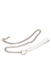 Поводок Leather Leash, white