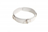 Ошейник Slave leather collar,white