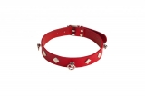 Ошейник Leather Choker,red