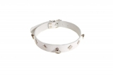 Ошейник Leather Choker,white