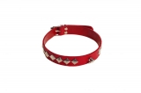 Ошейник SUB leather Choker, red