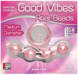 Анальные шарики GOOD VIBES ANAL BEADS MEDIUM PINK
