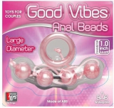 Анальные шарики GOOD VIBES ANAL BEADS LARGE PINK