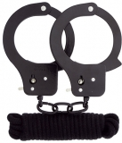 Набор BONDX METAL CUFFS & LOVE ROPE SET-BLACK