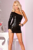 Платье Glitterati sequin dress black