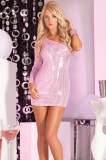 Платье Glitterati sequin dress pink